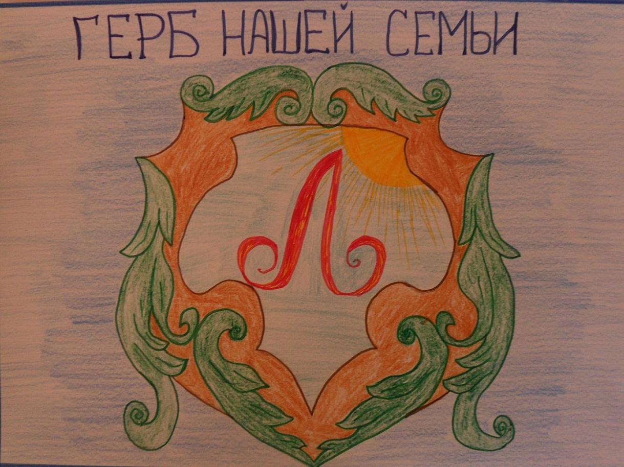Герб своей семьи рисунки